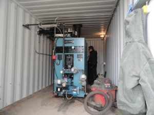 20 HP Portable Boiler Room